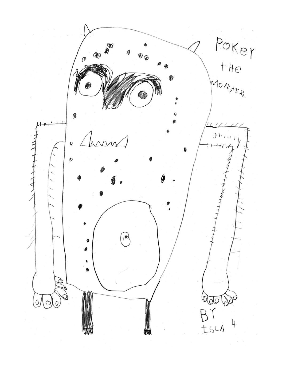 Illustration of monster by Isla.