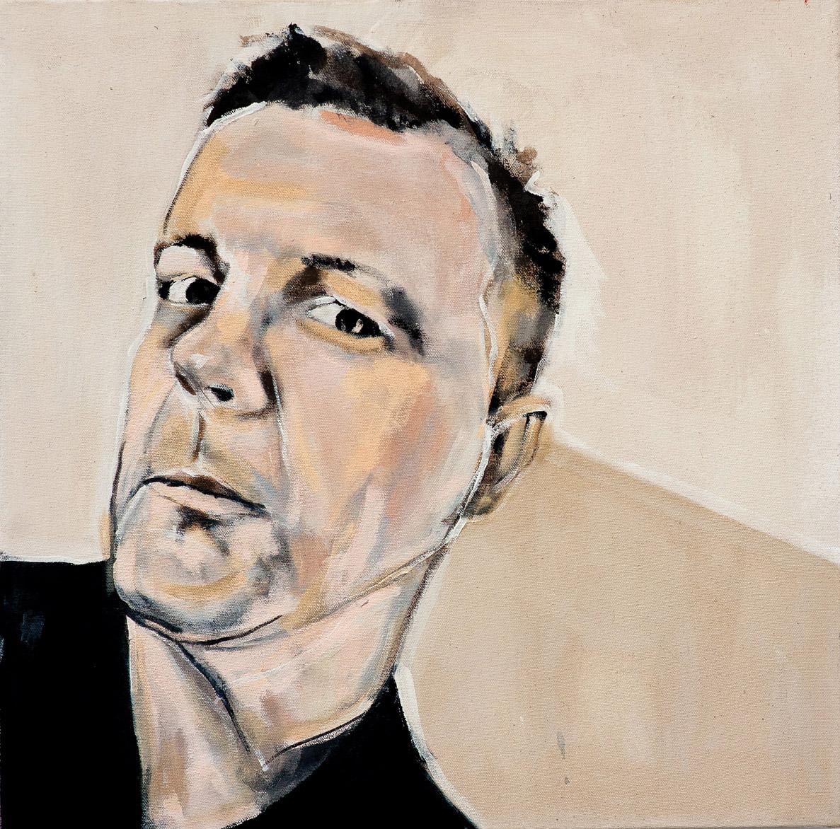 Painting of Christian Bök by Melanie Janisse-Barlow