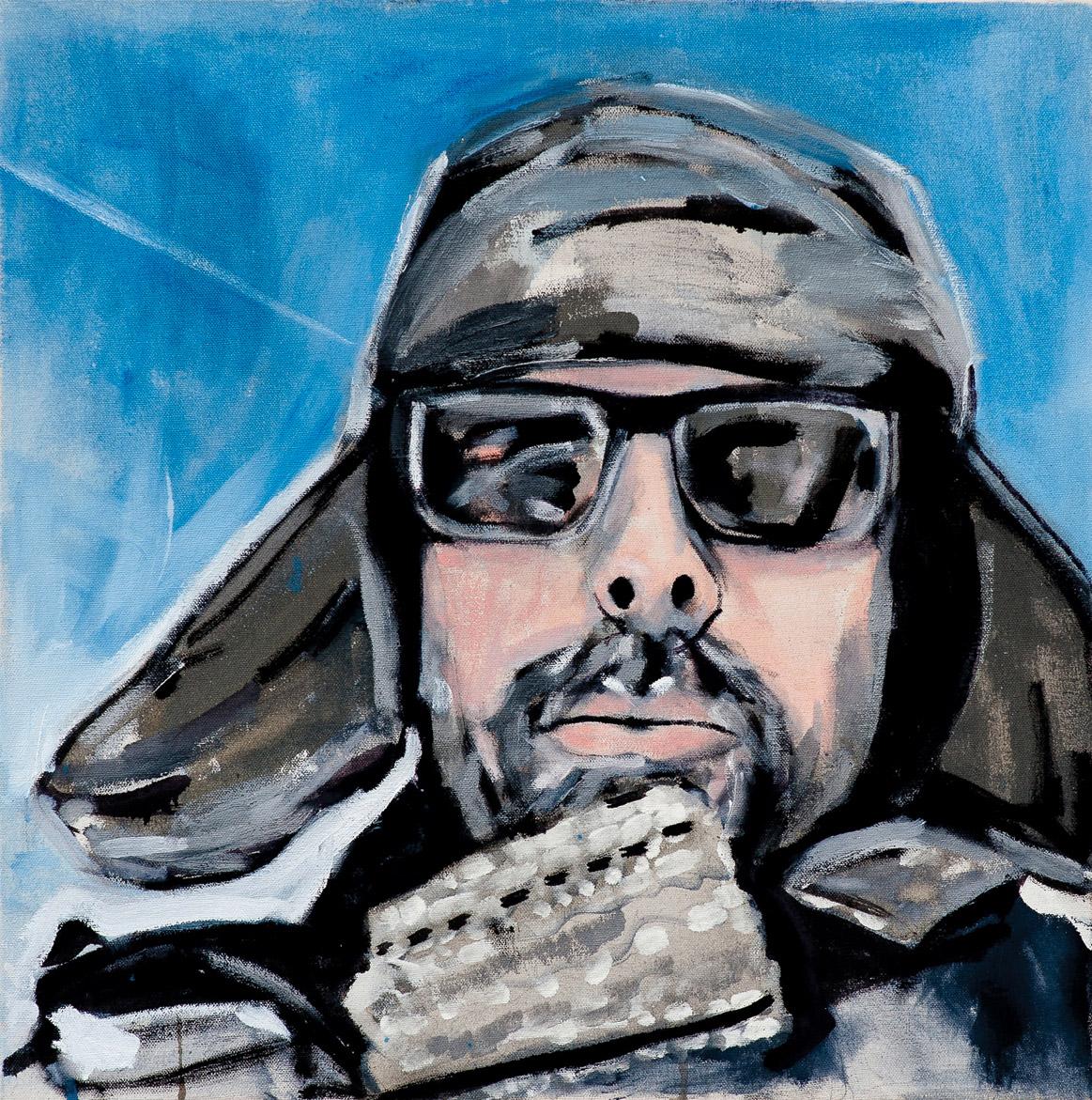 Painting of David Seymour by Melanie Janisse-Barlow