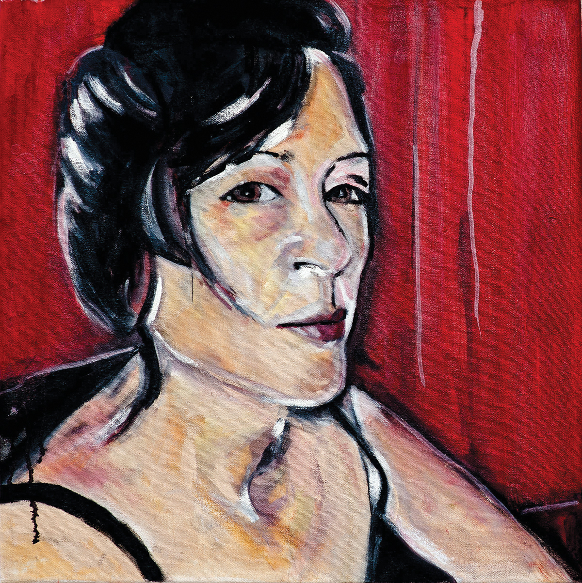 Painting of Hoa Nguyen by Melanie Janisse-Barlow