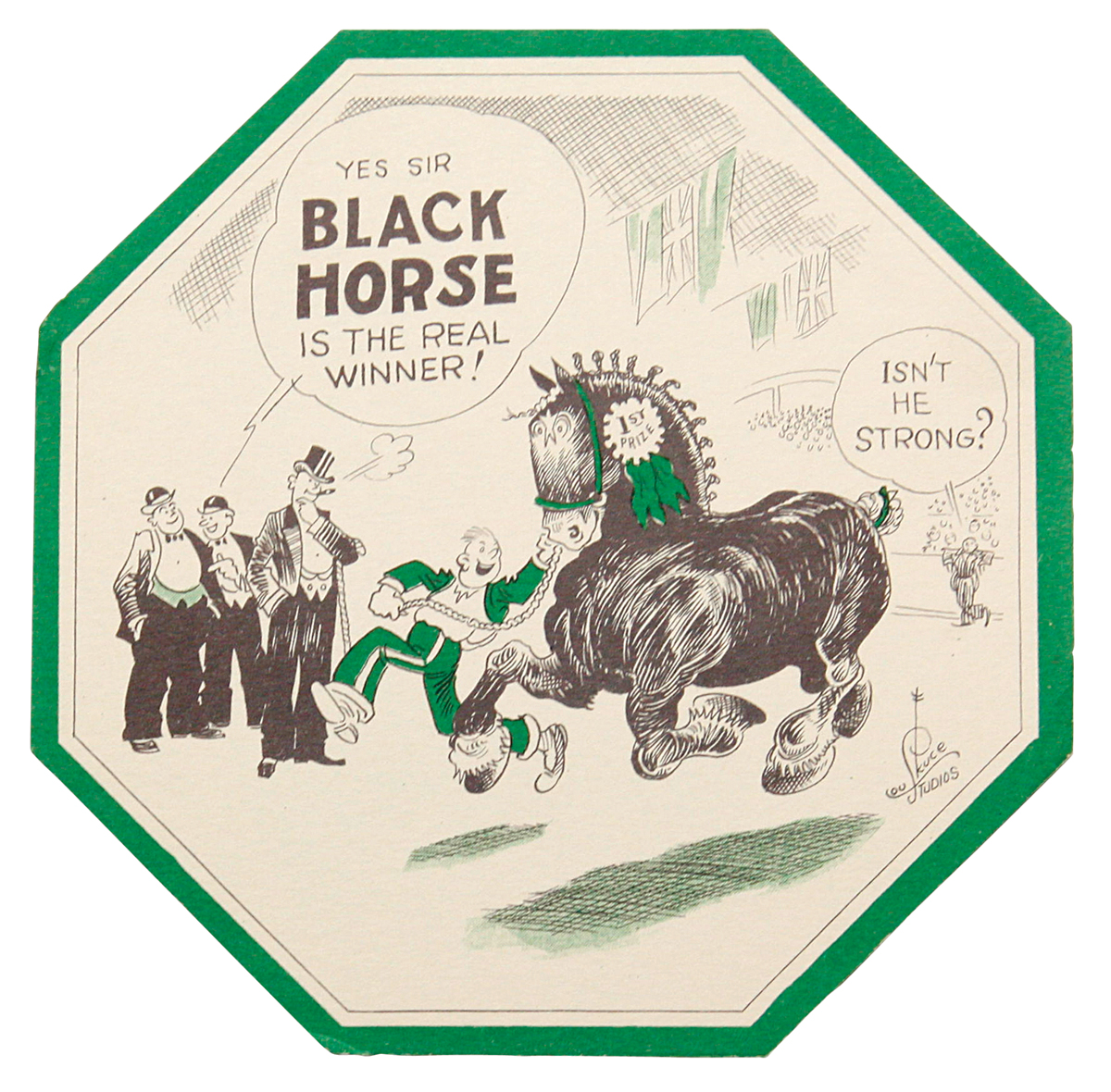 Photo of Black Horse coaster by Lou Skuce