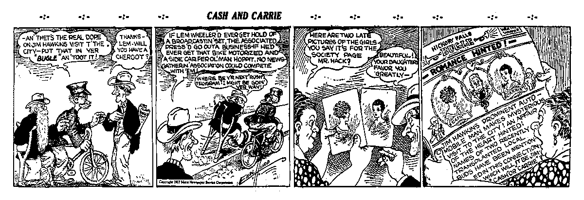 Cash and Carrie comic strip by Earl Hurd, 1927
